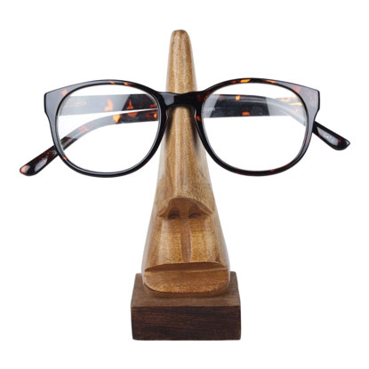 wooden glasses holder