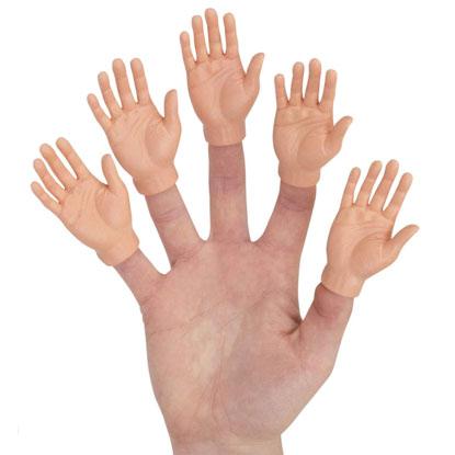 weird finger hand puppets