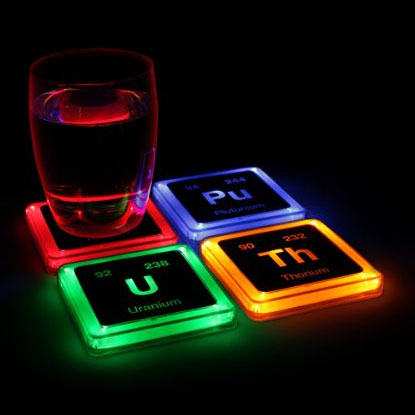 glow in the dark coaster set