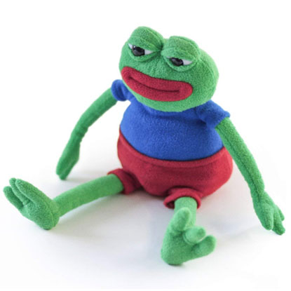 pepe the frog plushie