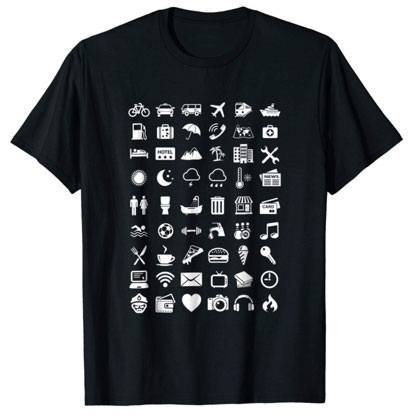 travel icon shirt