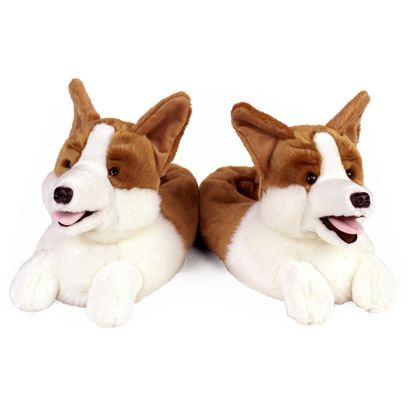 corgi slippers pair