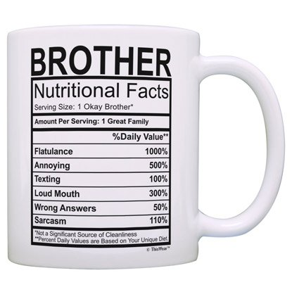 nutritional brother facts mug