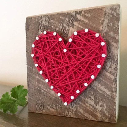 love heart nail art