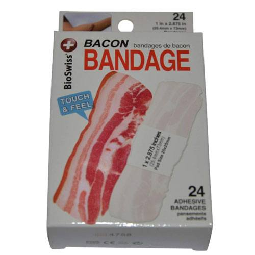 funny bacon first aid bandages
