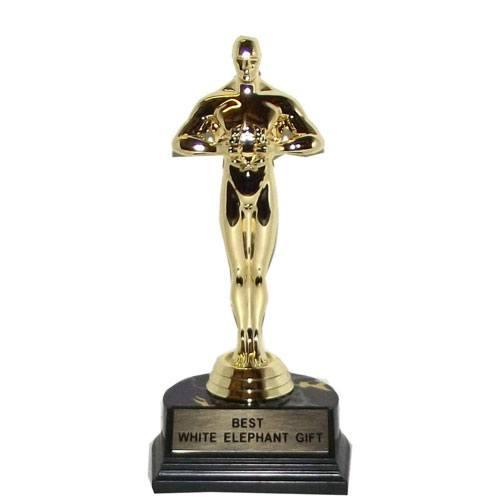 best white elephant gift trophy