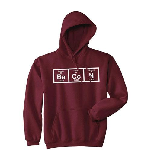 chemistry bacon hoodie