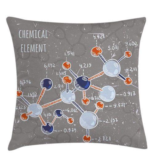 chemistry theme throw pillow