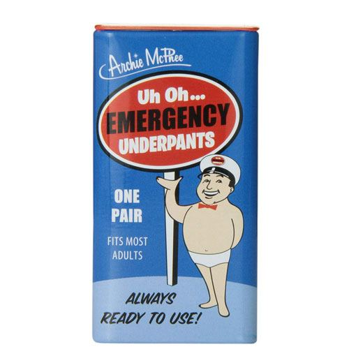 emergency underpants gag gift
