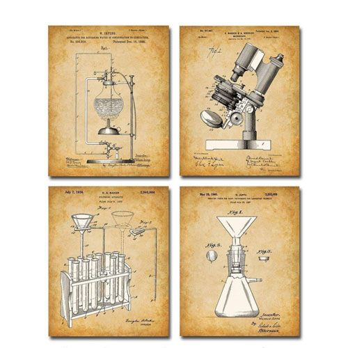 original science lab equipment art