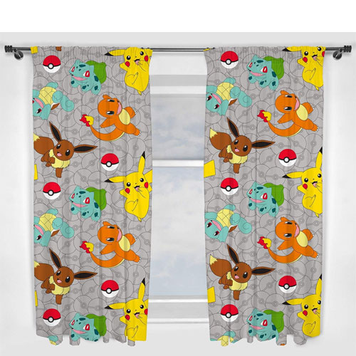 pokemon curtains present
