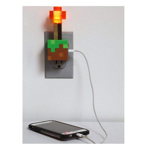redstone torch USB charger