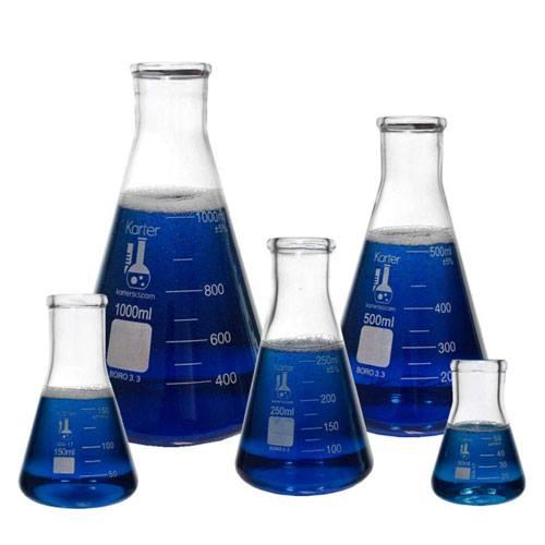 scientific glass flask set