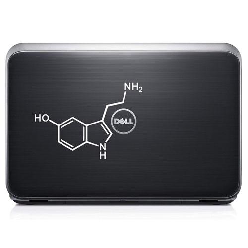 serotonin molecule decal sticker
