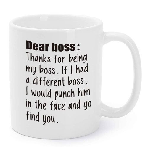 thanks for being my boss mug