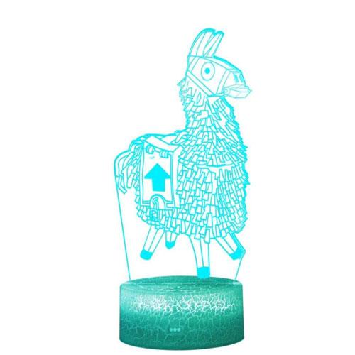 3d llama lamp
