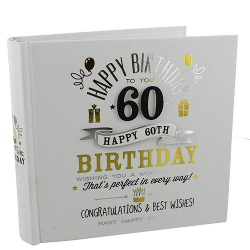 60th birthday photo album