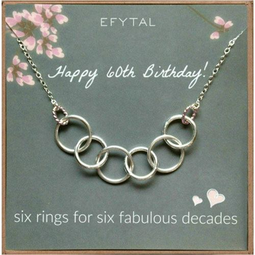 60th birthday necklace gift