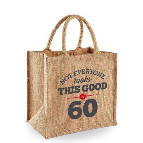 60th tote bag  60th Birthday Gift Ideas