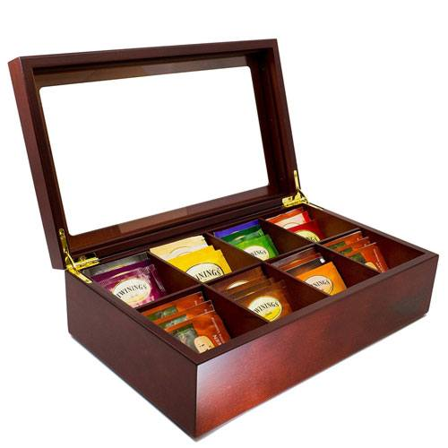 tea organizer box  60th Birthday Gift Ideas