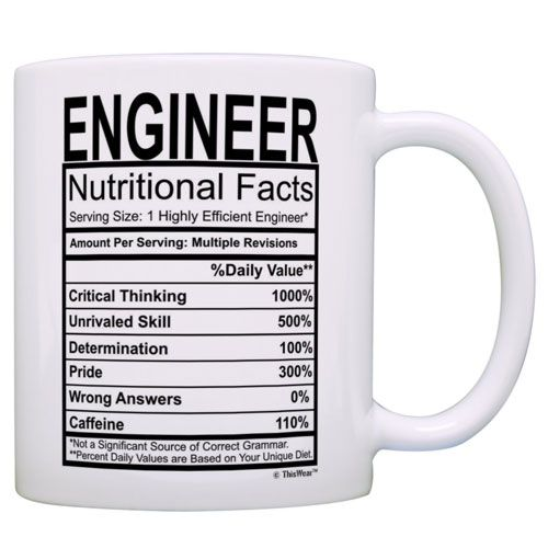 engineering nutritional facts mug