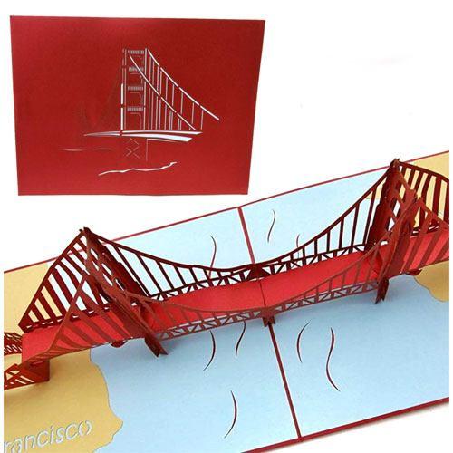 golden gate bridge pop up card