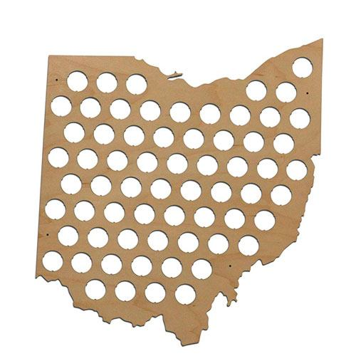 state beer cap map