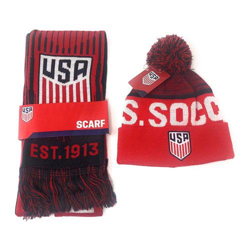 usa soccer scarf beanie