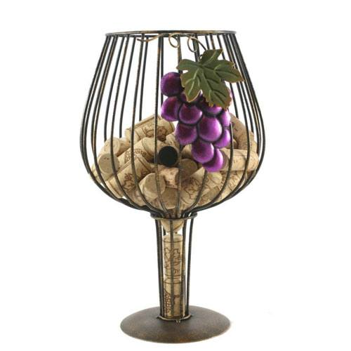 wine glasses cork holder