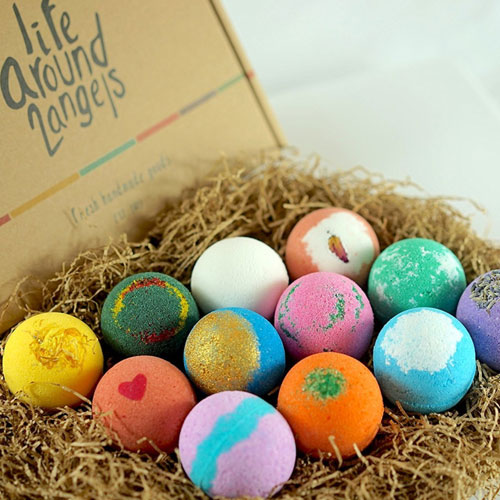 luxury bath bombs gift set