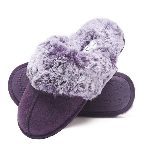 faux fur house slippers