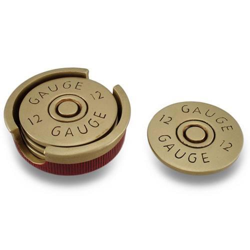 12 gauge shotgun shell coasters