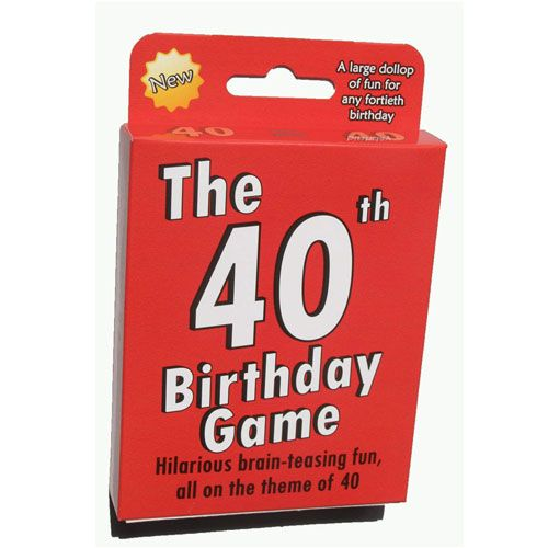 the 40th birthday game