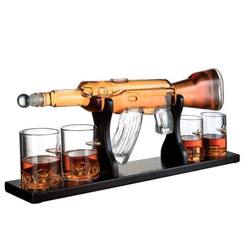 ak47 whiskey decanter