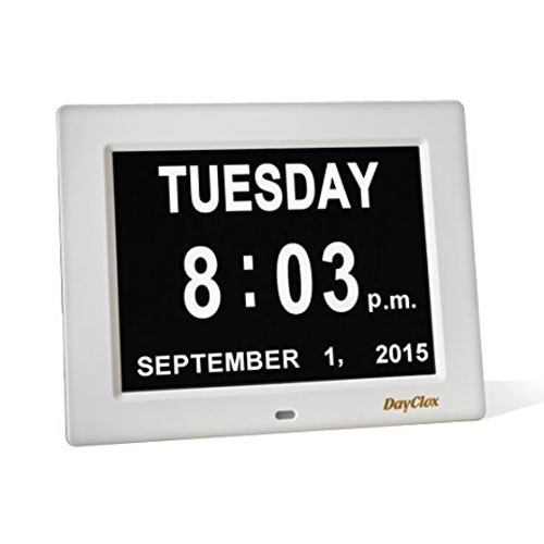 senior digital calendar clock