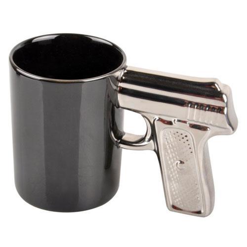 handgun coffee mug gift