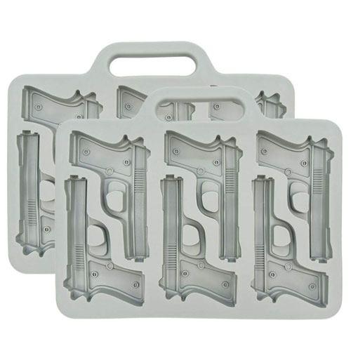 handgun ice cube tray