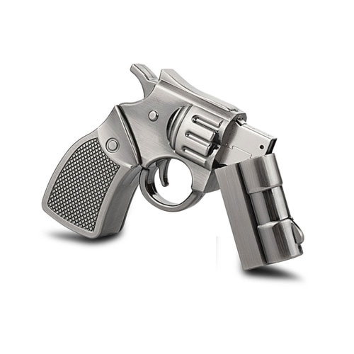 metal gun shaped USB drive