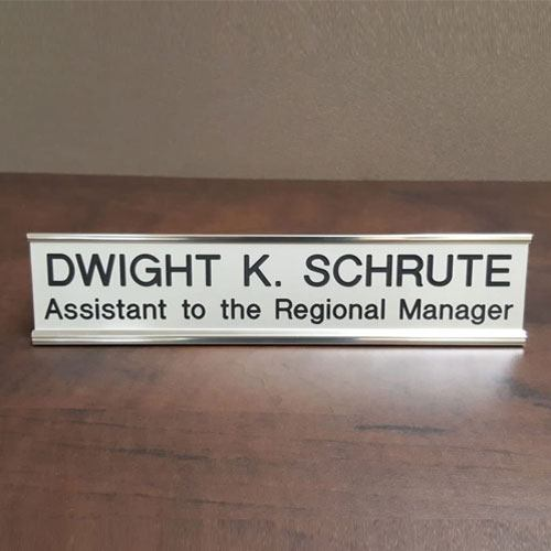 dwight schrute name plate