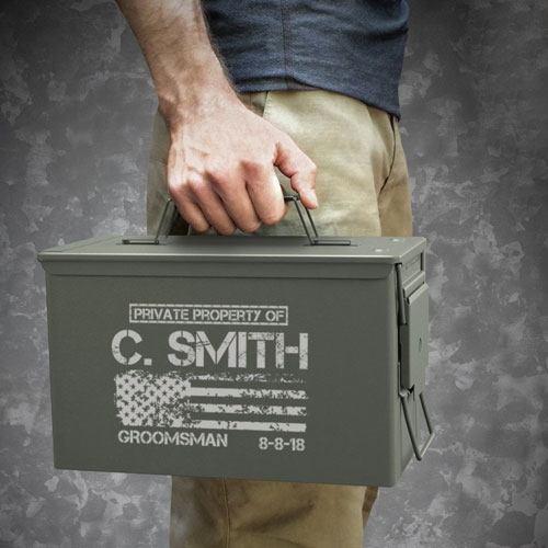 personalized ammo storage box