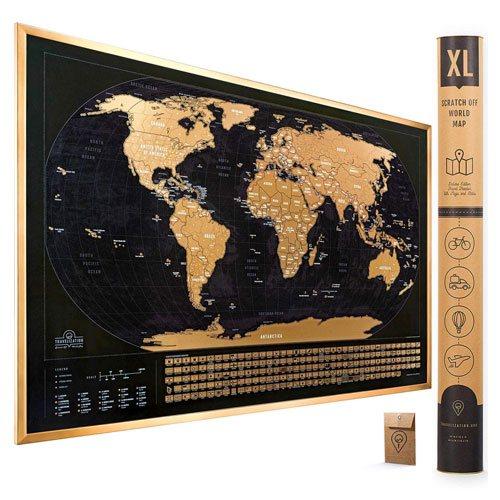 scratch off world map gift idea