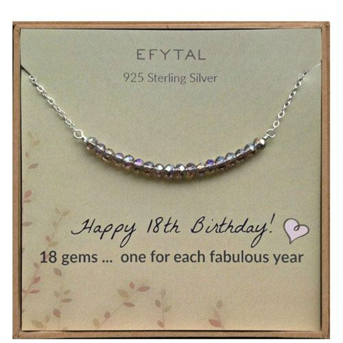 18th birthday necklace gift