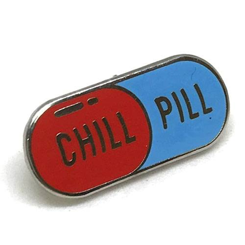 chill pill lapel