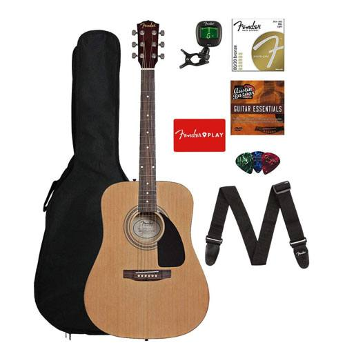 fender acoustic guitar set