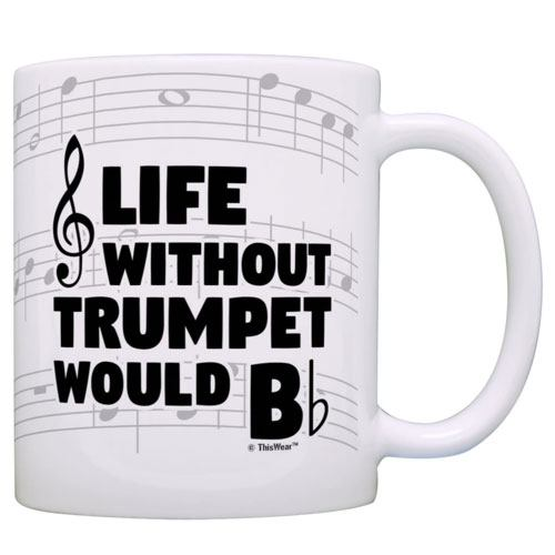 funny trumpet mug