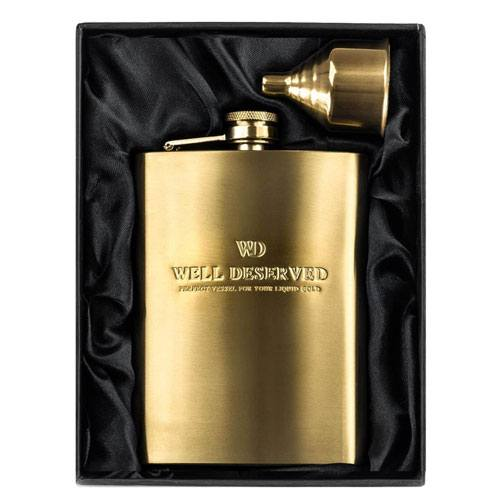 well deserved hip flask