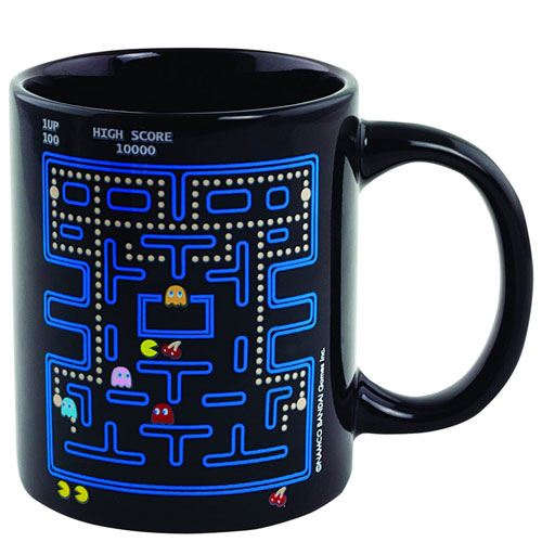 pac man heat changing mug gift