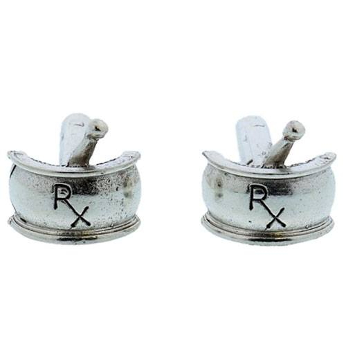 mortar and pestle cufflinks