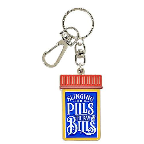 slinging pills keychain gift idea