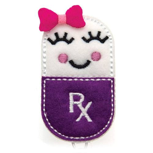 pill girl badge holder
